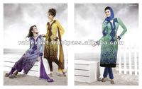 Long bottom lace stitched salwar kameez in different colors
