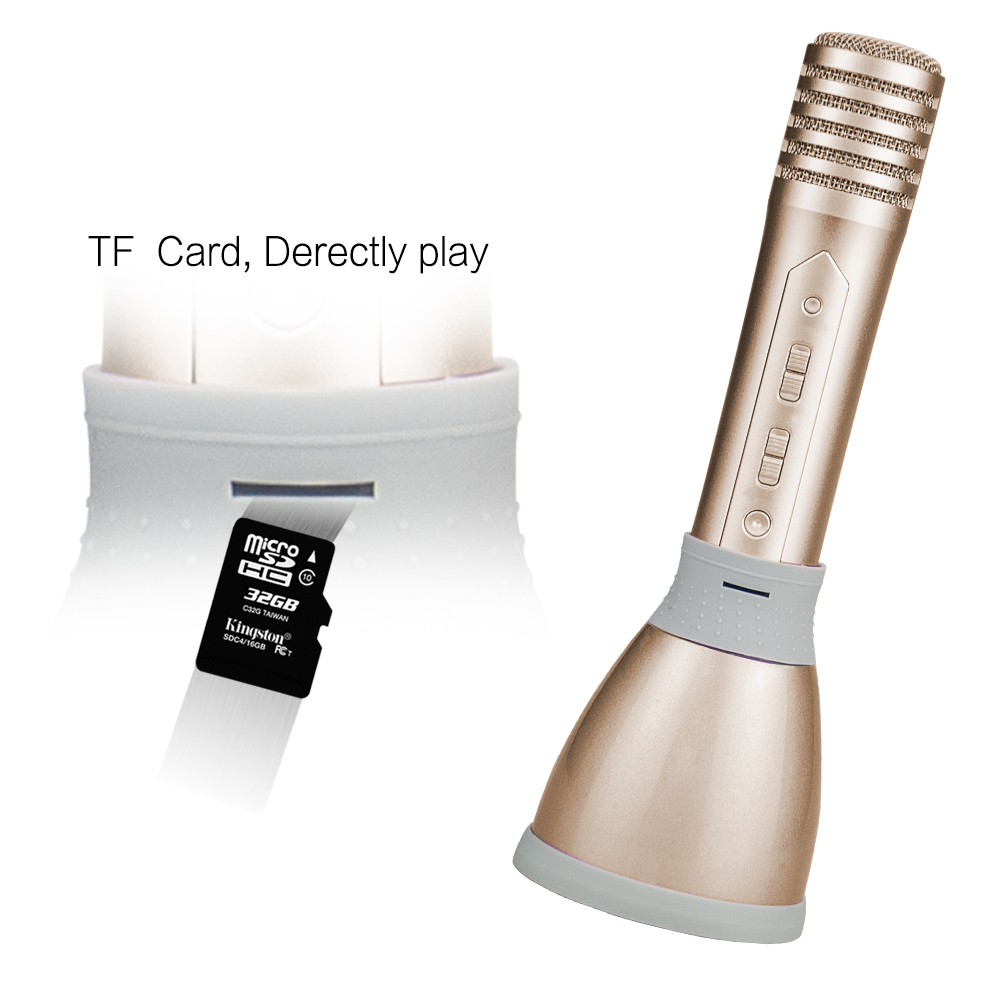 Top level best sell bluetooth microphone with ktv karaoke microphone speaker with wireless microphone