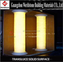 acrylic solid surface translucent decorative columns interior/ panel