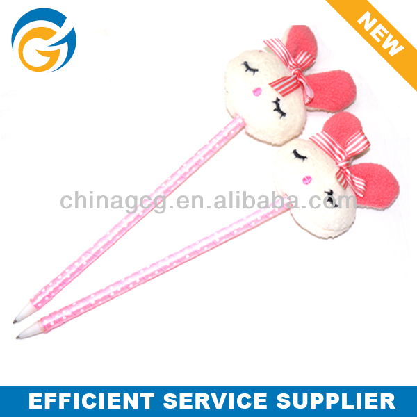 Rabbit Soft Lint Doll Ball Pen