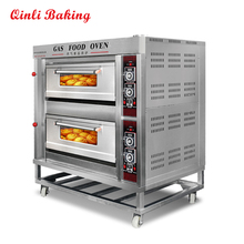 CE Approved bakery equipment pizza oven electrical double decks gas heated oven