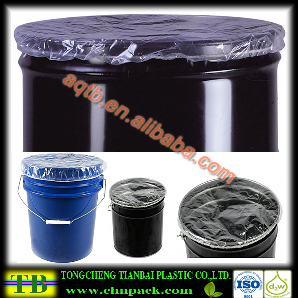 Disposable clear plastic drum cover