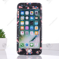 360 Protective Cover Case For iPhone 6 6S 7 Plus with Tempered Glass Front Back Full Coverage Cover