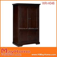 luxury living room furniture solid wood wardrobe /wooden closet