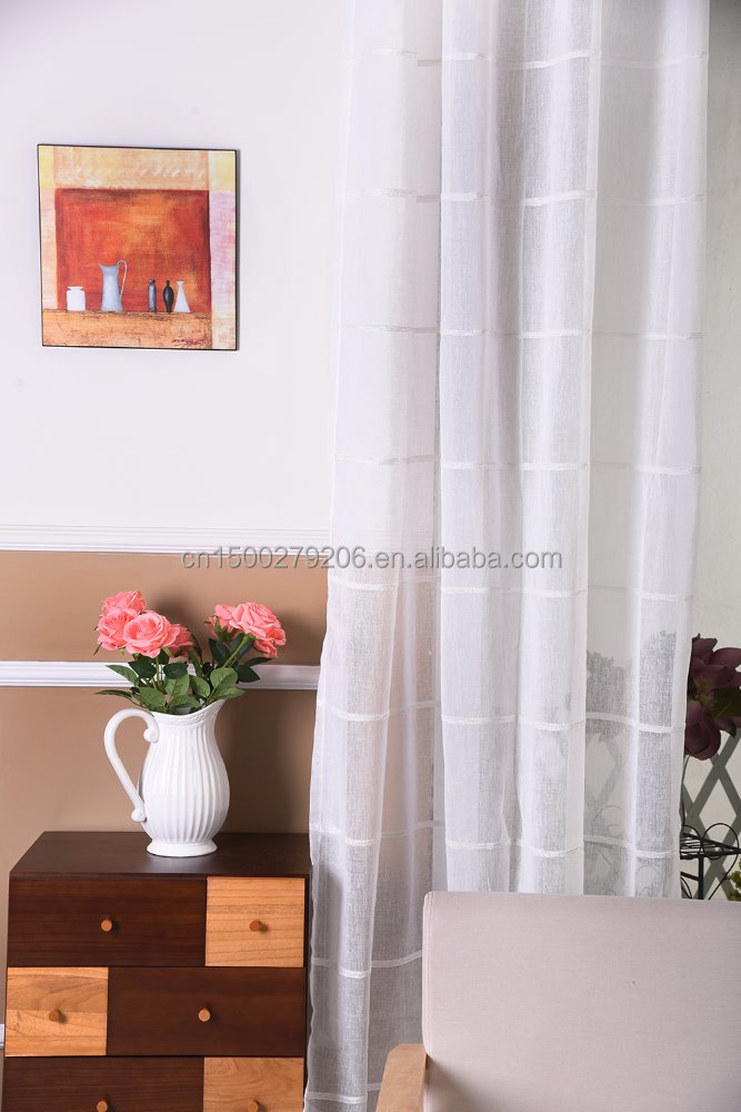 Luxury drapery,luxury embroidered jacquard flocking curtains/voile curtain