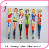 Wholesale China Eauty Stainless Steel Eyebrow Tweezers and Girl Style Eyebrow Tweezers