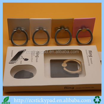 360 degree rotated colorful mobile finger ring hook
