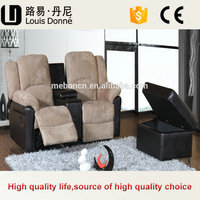 Wholesale Commercial Luxury Gray Fabric Home Theater Chair