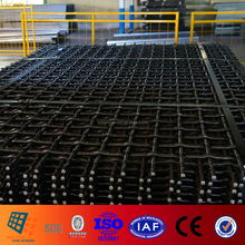Plain Weave lock crimped weave wire screens for gravel mining and gabbro aggregate