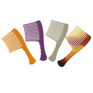 Personalized Wide Tooth Colorful Plastic Hair Large Rake Comb