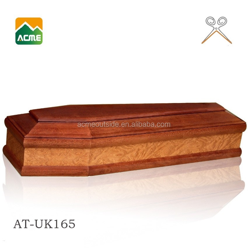 AT-UK165 luxury plastic coffins and caskets supplier
