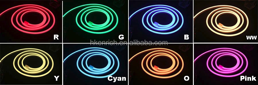 RGBW flexible led neon with IP68 for outdoor decoration