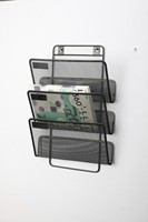 office accessories desktop stationery metal mesh desk organizer magazine holder office desk organizer
