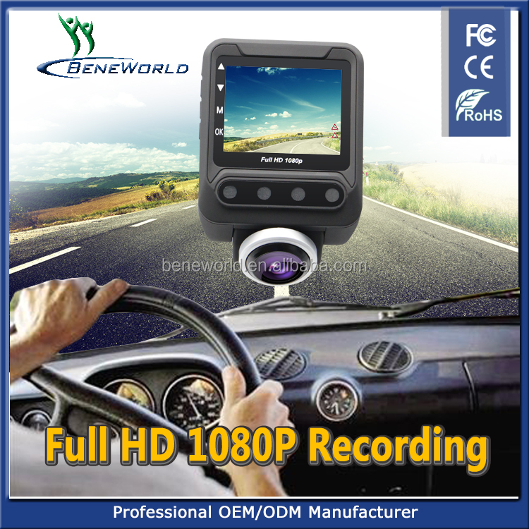 2.5 inch 360 degree panoramic dash cams with big fisheye car camera dvr video recorder