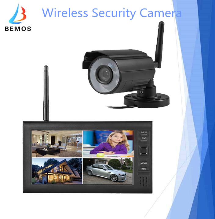 7 Inch LCD Mini Wireless Digital Monitor System CCTV Camera for Security