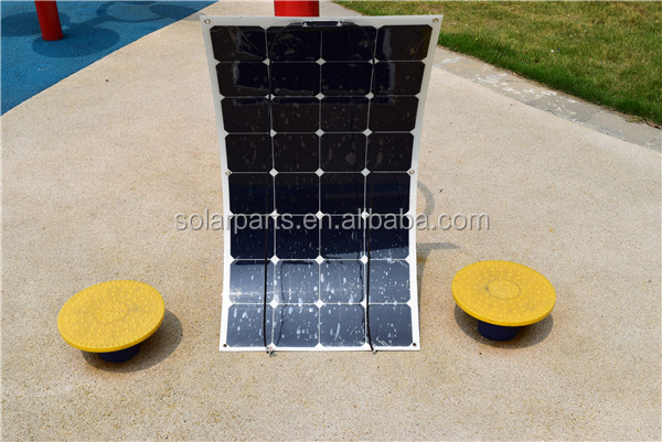 factoty poly silicon 100watts PV semi flexible solar panel for roof