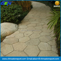 Irregular Hexagon Grey Granite Cheap Paving Stone
