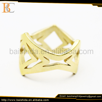 cheap wholesale mens gold stainless steel finger rings