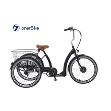 aluminium frame electric tricycle BAFANG motor three wheel electric cargo/tricycle cargo bike
