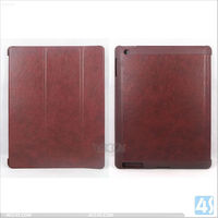 Classical Flip Cover Tablet Leather Case with Three Folding for iPad Mini P-iPDMINICASE127