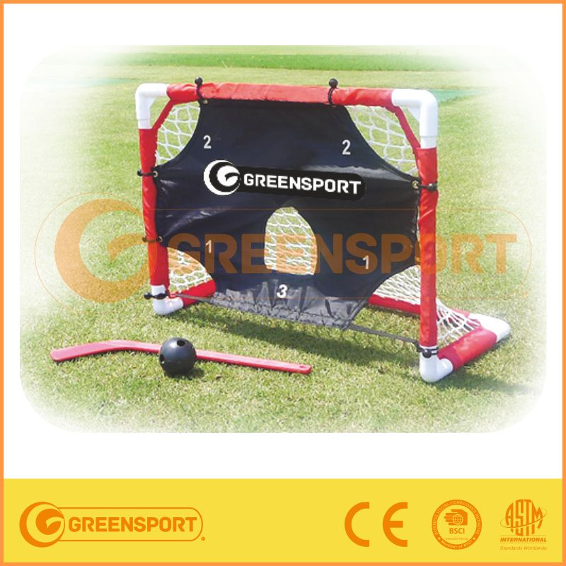 Metal Hockey Goal & Plastic hockey sticks with target cloth