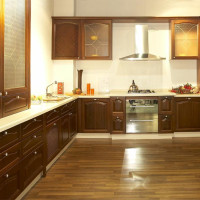 America style solid wood insert kitchen cabinets