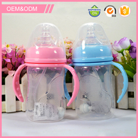OEM custom design free sample pp baby milk feeding bottle