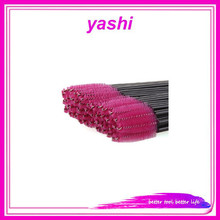 YAESHII Plastic Handle Portable Disposable Nylon Head Eyelash Brush