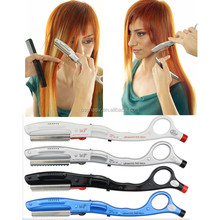 Good Quality! Hairdresser Ultrasonic Hot Razor with Feather Blades Professional Barber razor/ Hair Razor