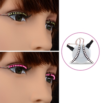 2017 Newest Sound Interactive Eyelash Light For Club Halloween Masquerade