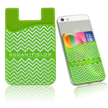 silicone sticky smart phone card pouch