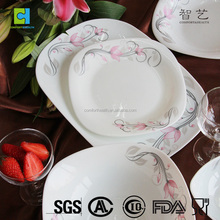 Promotion colored tempered glass dinnerware sets