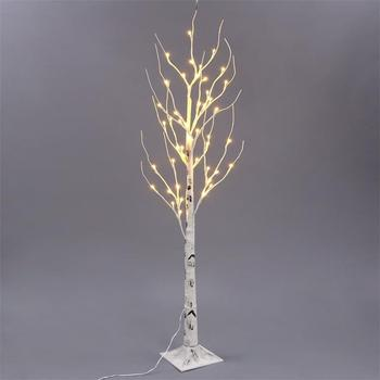 Home Decoration 48 LEDs 4FT Warm White Led Birch Twig Lighted Branches Tree