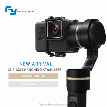 World's first Splash-proof Gimbal FY G5 3-axis action camera handheld gimbal