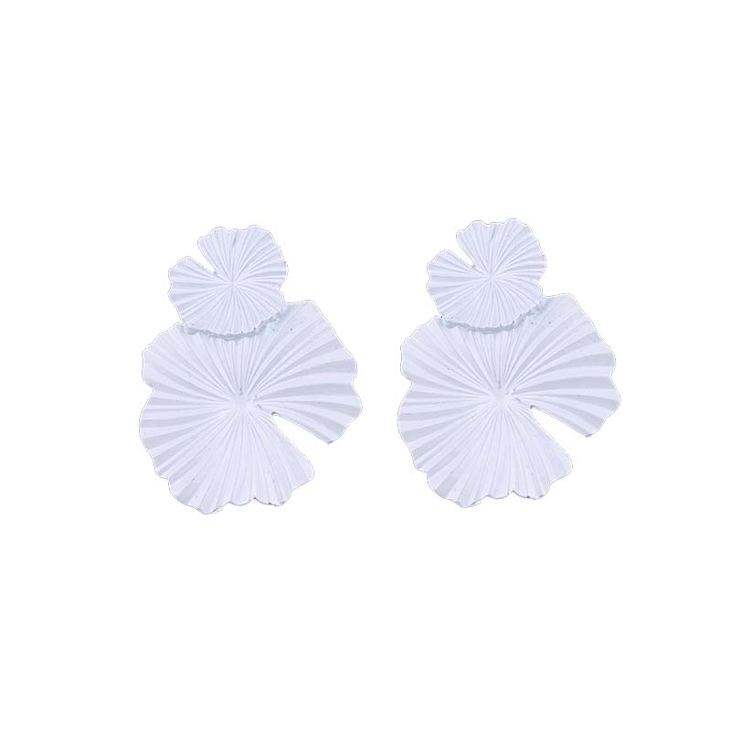 Zooying paint spraying Solid Color Flower Earring