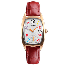 skmei 1323 beautiful girls hand watches leather women watch brand with low price