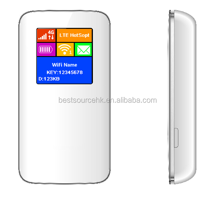Pocket Portable 4G LTE FDD-LTE FDD-LTE Wireless wifi router with power bank 150 Mbps with Sim Network Card Slot