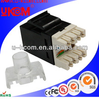 High quality amp type UTP rj45 cat 6 female keystone jack
