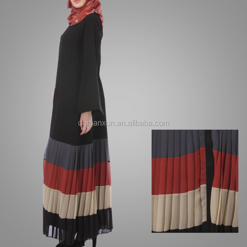 Fashion Style Muslim Women Casual Abaya Top Grade Pleated Kaftan Dress Latest Pakistani Designs Islamic Long Clothing