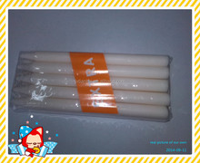 Paraffin wax long burning time tearless and flameless white stick candle for lighting