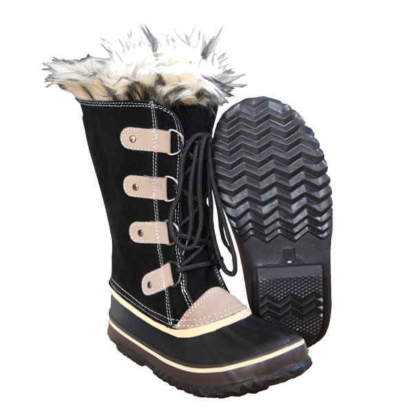 Winter Leather Upper and Rubber Sole Winter Boots