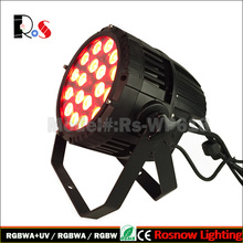 18x18w RGBWA UV 6in1 mixing colors theatre wedding party water-proof led par can