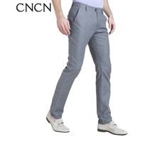 gray fashion cotton man casual pant