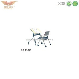 School student furniture design Simple school and desk set Cheap table and chair set