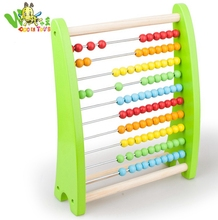 2018 hot sale kids preschool education intelligent computing frame wooden toy