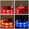 Hot Sale Color LED Collar USB Rechargeable Safety Adjustable Led Flashing Dog Collar