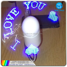 USB PC LED Flexible Fan with Luminous Input DIY Editable Message for PC Laptop (Green)