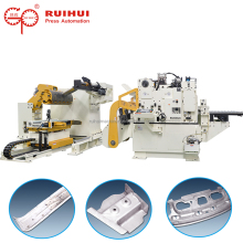 3 in 1 automatic board steel coil tube sheet uncoiler machine NC servo decoiler straightener feeder for car parts maker