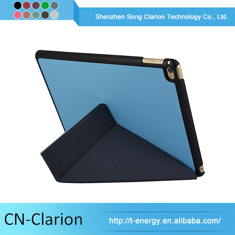 4 fold origami Newest Folding Flip Stand Pu Cover For Ipad Mini 4 Case Universal Tablet Case