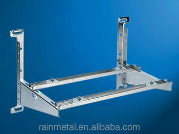 Adjustable customized OEM galvanized metal stamping favorable welding aircondition bracket